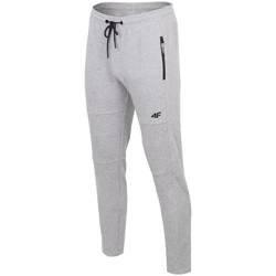 Spodnie męskie 4F chłodny jasny szary melanż H4Z19 SPMD072 27M