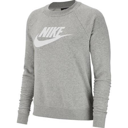 Bluza damska Nike Essentials Crew FLC HBR szara BV4112 063