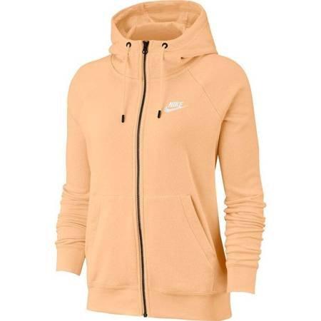 Bluza damska Nike Essentials Hoodie FZ FLC pomarańczowa BV4122 734
