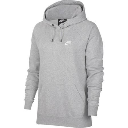 Bluza damska Nike Essentials Hoodie Po Flc szara BV4124 063