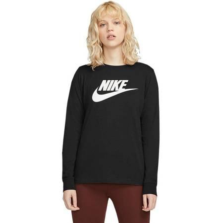 Bluza damska Nike Essentials Tee LS Icon FTR czarna BV6171 010