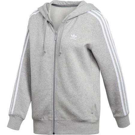 Bluza damska adidas 3STR Zip Hoodie szara DN8155