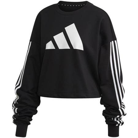 Bluza damska adidas Adjustable 3 Stripes Sweatshirt czarna FI6721