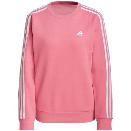 Bluza damska adidas Essentials 3S Fleece Sweat Shirt różowa H10193