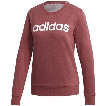 Bluza damska adidas Essentials Linear Crewneck bordowa GD2956