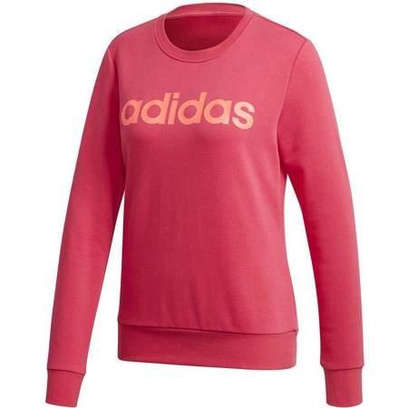 Bluza damska adidas Essentials Linear Crewneck różowa GD2955