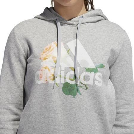Bluza damska adidas Floral BC HDY szara ED8163
