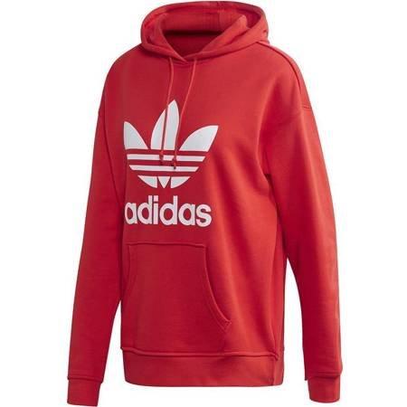 Bluza damska adidas Trefoil Hoodie czerwona FM3298