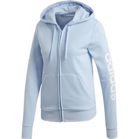 Bluza damska adidas W Essentials Linear FZ HD jasno niebieska EI0662