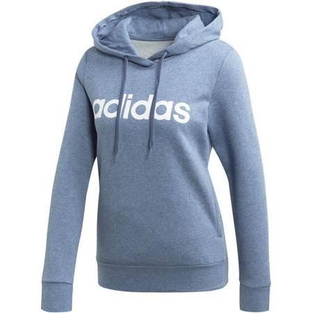 Bluza damska adidas W Essentials Linear Over Head Fleece Hoodie niebieska EI0671