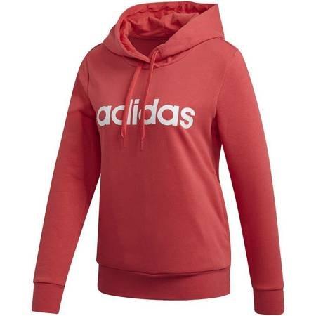 Bluza damska adidas W Essentials Linear Over Head Hoodie czerwona FM6440
