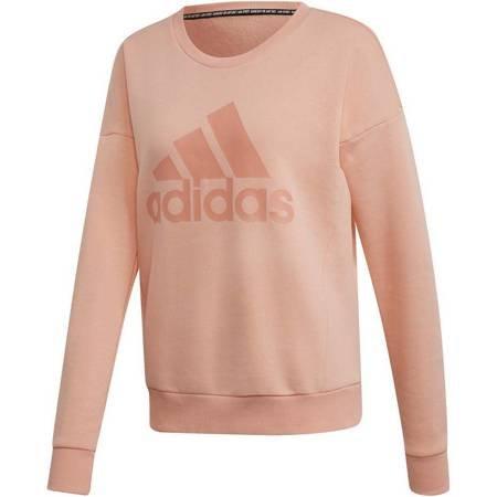 Bluza damska adidas W MH Bos Crew blady róż EB3814