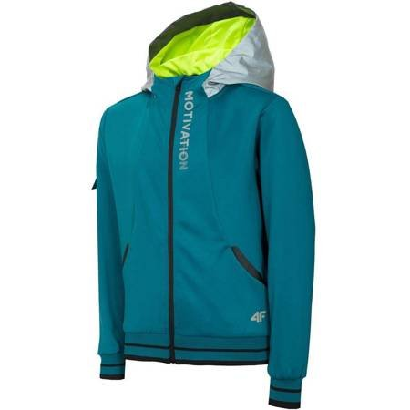 Bluza dla chłopca 4F J4L19 JBLM401A 46S morska zieleń