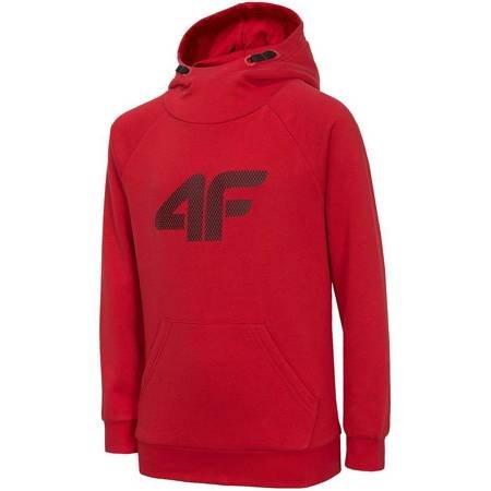 Bluza dla chłopca 4F czerwona HJZ20 JBLM002 62S