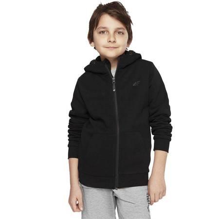 Bluza dla chłopca 4F głęboka czerń HJL21 JBLM001 20S