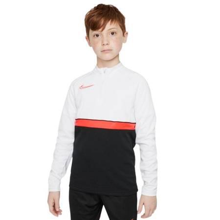 Bluza dla dzieci Nike DF Academy 21 Drill Top czarno-biało-czerwona CW6112 016