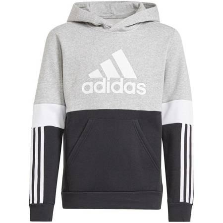 Bluza dla dzieci adidas Colorblock czarno-szara GS8883