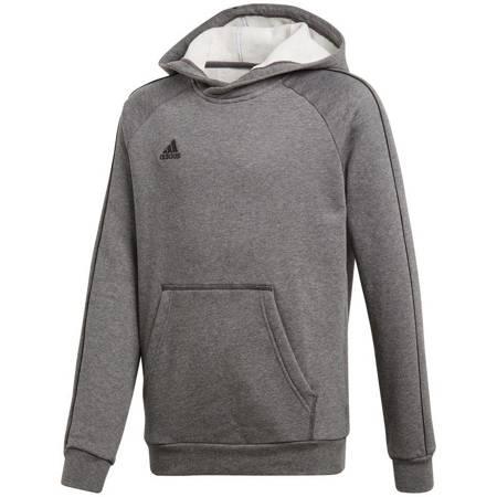 Bluza dla dzieci adidas Core 18 Hoody JUNIOR szara CV3429