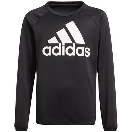 Bluza dla dzieci adidas D2M Big Logo Sweatshirt czarna GN1482