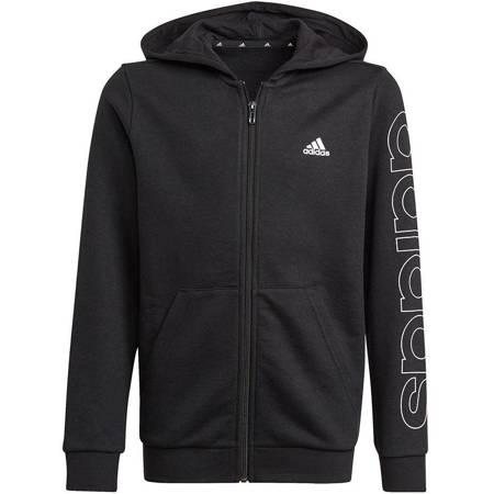Bluza dla dzieci adidas Essentials Logo Full-Zip Hoodie czarna GN4041