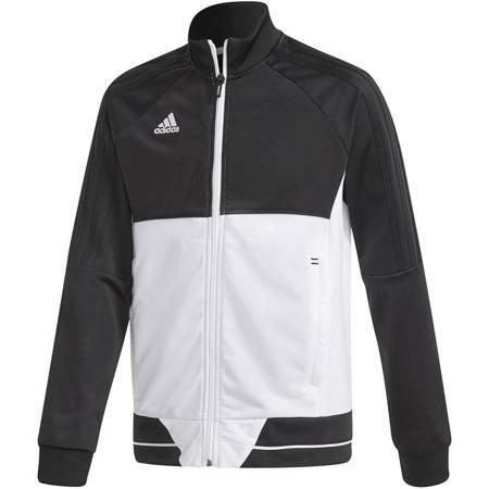 Bluza dla dzieci adidas Tiro 17 Polyester Jacket JUNIOR czarno-biała BQ2611