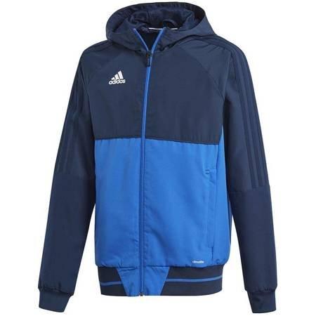 Bluza dla dzieci adidas Tiro 17 Presentation Jacket JUNIOR granatowo-niebieska BQ2784