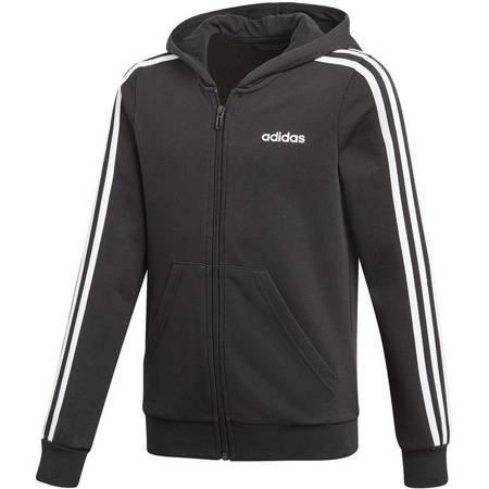 Bluza dla dzieci adidas YG Essentials 3S Full Zip Hoodie czarna DV0368