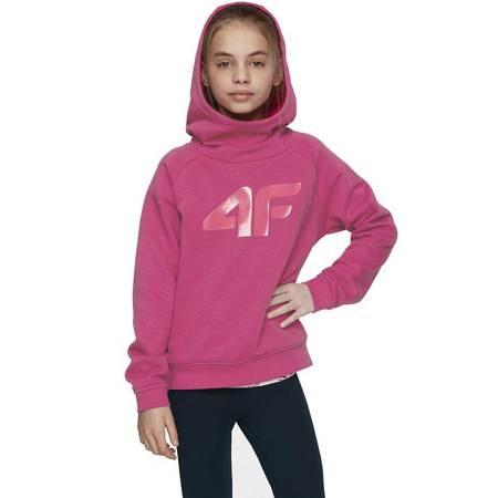 Bluza dla dziewczynki 4F ciemny róż HJL21 JBLD002 53S