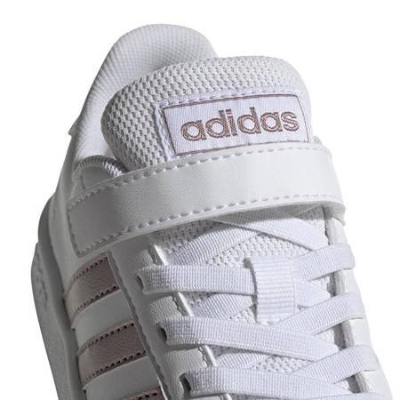 Buty dla dzieci adidas Grand Court C białe EF0107