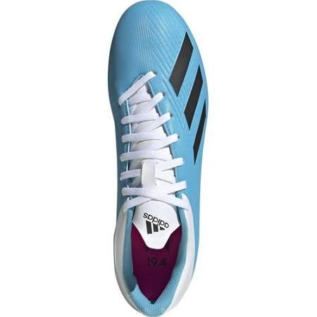 Buty piłkarskie adidas X 19.4 FxG niebiesko białe F35378