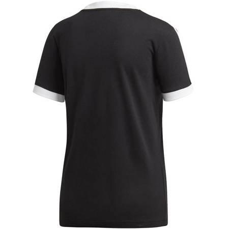 Koszulka damska adidas 3 Stripes Tee czarno-biała ED7482