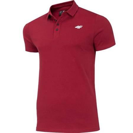 Koszulka męska 4F burgund H4Z19 TSM010 60S
