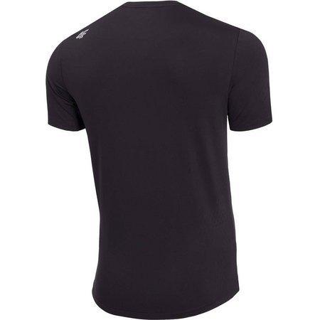 Koszulka męska 4F głęboka czerń H4Z19 TSMF001 20S