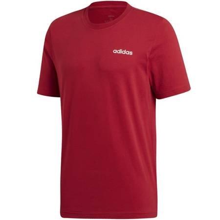 Koszulka męska adidas Essentials Plain Tee bordowa EI9780