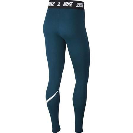 Legginsy damskie Nike W LGGNG Club HW niebieskie AH3362 347