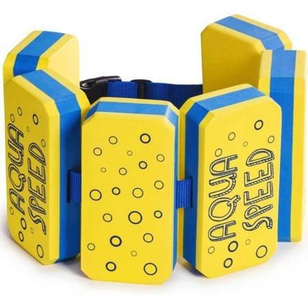 Pas wypornościowy do pływania Aqua-Speed Octopus Kiddie Swim Belt 6 części żółto-niebieski ref.184
