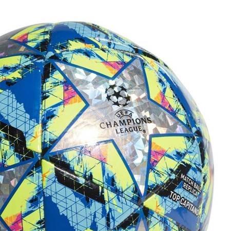 Piłka nożna adidas Finale Top Capitano szaro-niebiesko-żółta DY2564