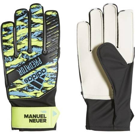 Rękawice bramkarskie adidas Predator Training Manuel Neuer JUNIOR żółto niebiesko czarne DY2623