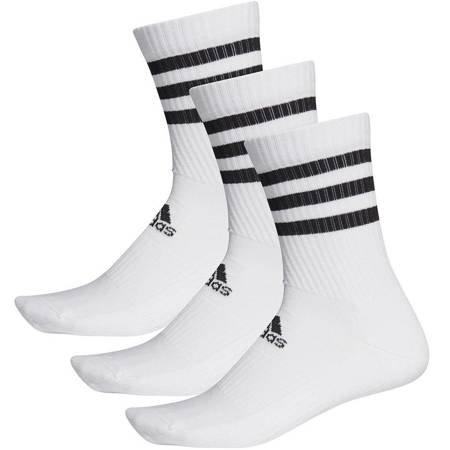 Skarpety adidas 3S CSH CRW 3pary biało-czarne DZ9346