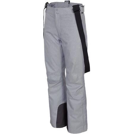 Spodnie narciarskie damskie 4F chłodny jasny szary melanż H4Z19 SPDN001 27M
