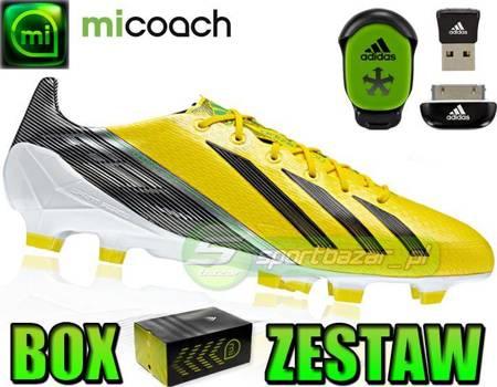 ZESTAW: BUTY adidas F50 ADIZERO TRX FG + MICOACH /L44749